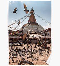 Flying Stupa Poster