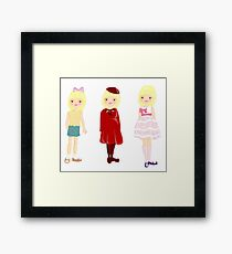fashionable kids Framed Print
