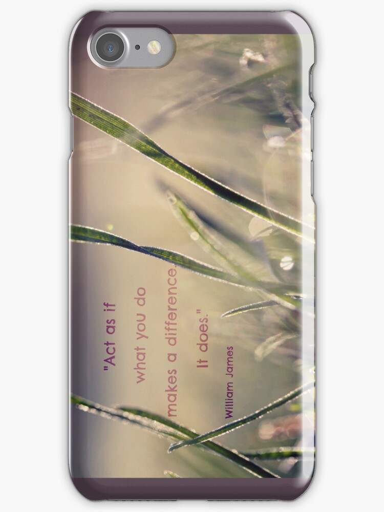 What You Do Makes A Difference iPhone / iPod Case by Astrid Ewing Photography