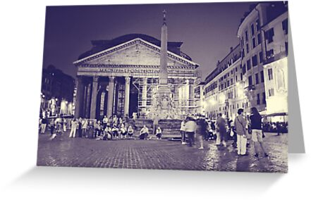 Rome VI. Pantheon by night.  by sylvianik