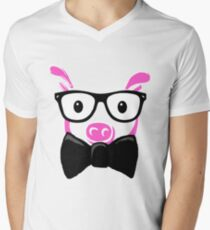 GEEK Pig Men's V-Neck T-Shirt
