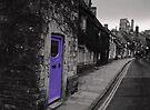 Purple door by Anne Staub