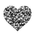 Black Skull Heart by pwrighteous