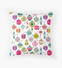 Ornaments - White by Andrea Lauren  Throw Pillow