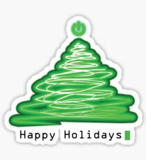 Merry Christmas and Happy Holidays! IT, Software Engineers, System Engineers, Hackers, Geeks  Sticker