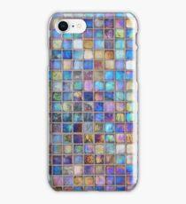 Iridescent glass mosaic blue/multi iPhone Case/Skin