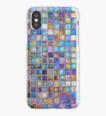 Iridescent glass mosaic blue/multi iPhone Case