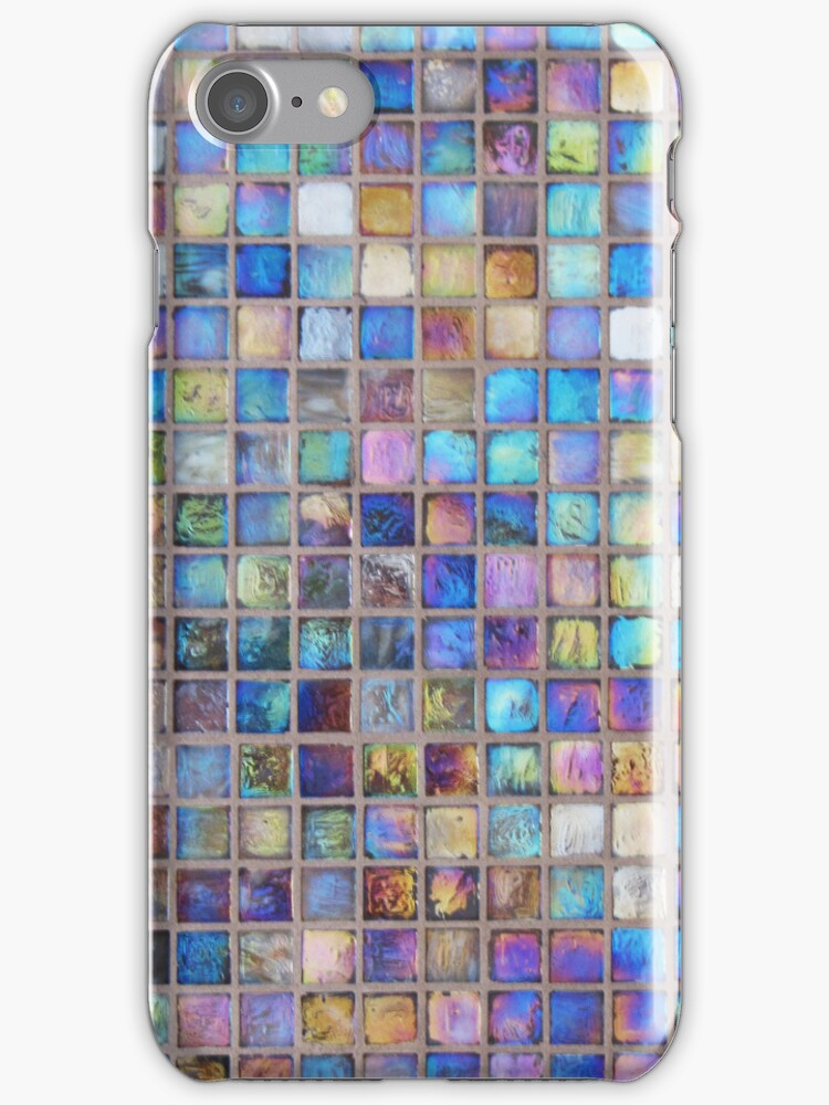 Iridescent glass mosaic blue/multi by knititude