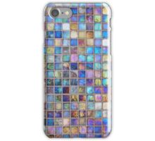 Iridescent glass mosaic blue/multi iPhone Case/Skin