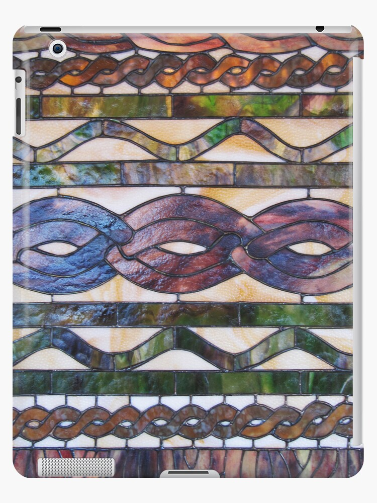 Knitted cables inspire stained glass by knititude