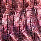 Onda Rosa knitted cables and lace by knititude