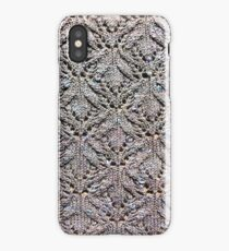 Knitted lace mackerel sky iPhone Case