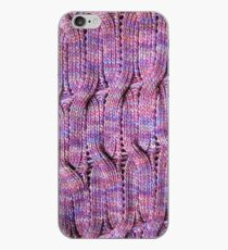 Onda Viola knitted cables and lace iPhone Case