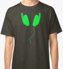 listen to the music green Classic T-Shirt