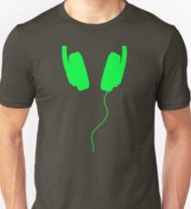listen to the music green Unisex T-Shirt