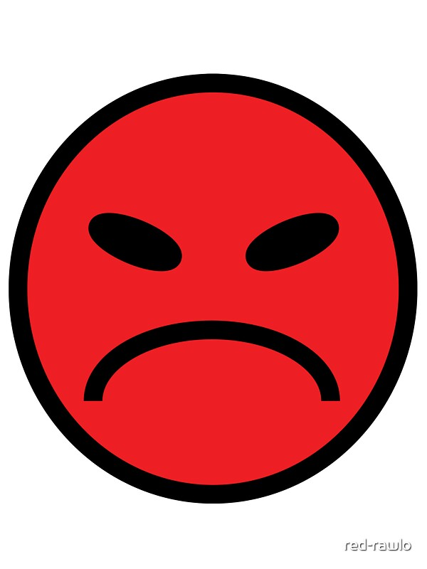 Quot Angry Face Red Quot Stickers By Red Rawlo Redbubble
