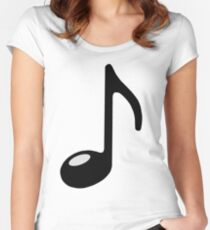 black note Women's Fitted Scoop T-Shirt