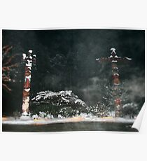 Butchart Gardens in the Mist Poster