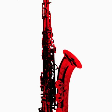 red saxophone by red-rawlo