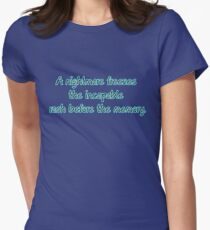 A nightmare freezes the incapable rash before the memory. T-Shirt