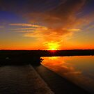 October Sunset over the River Tees by Ian Alex Blease