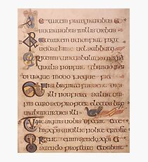 Page from the Book of Kells 2 Photographic Print