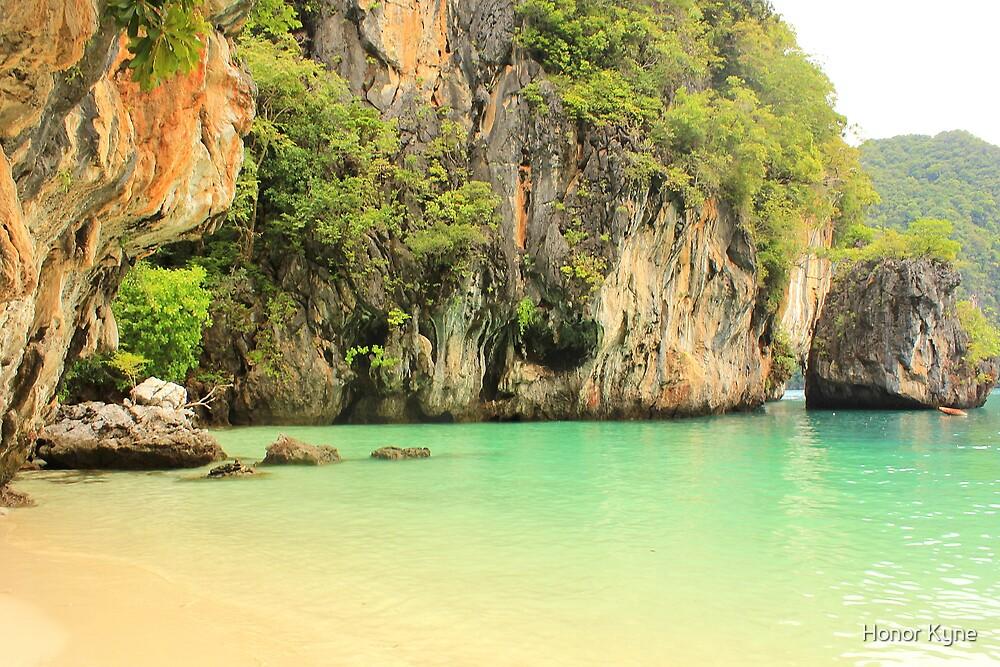 Karst Limestone Cliffs and Beach - Hong Islands, Thailand by Honor Kyne