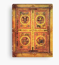 Page from the Book of Kells 3 Canvas Print