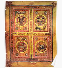 Page from the Book of Kells 3 Poster
