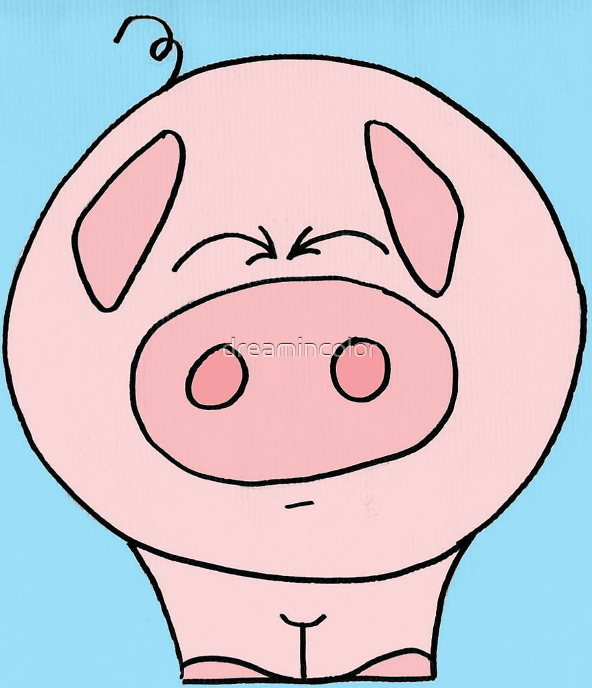 Squinty Pig by Kerry Cillo