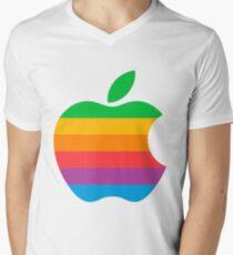 Retro Apple  Men's V-Neck T-Shirt