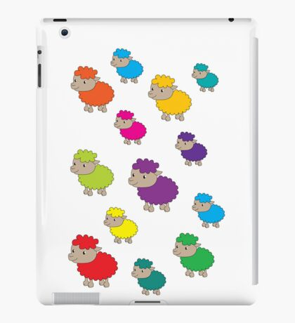 Colourful sheep iPad Case/Skin