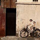 Street art at Armenian Street Georgetown Penang Malaysia by MiImages