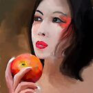 Pondering Over a apple by John Ryan