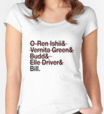 Jetset Death List Five Women's Fitted Scoop T-Shirt