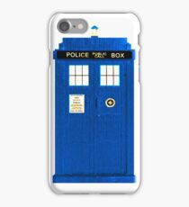 TARDIS Plain & Simple iPhone Case/Skin