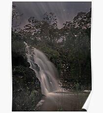 Third Falls, Morialta in Moonlight Poster