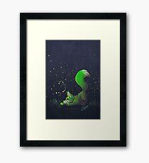 Firefly Fox - Green Framed Print