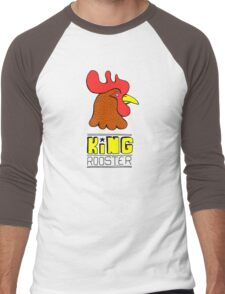 King Rooster: funny hand-drawn Rooster King with unlimited appeal (and power) t-shirt Men's Baseball ¾ T-Shirt