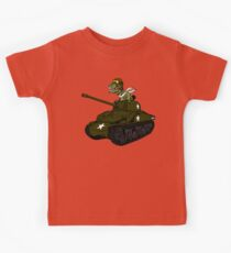 T-Rex in a Tank Kids Tee