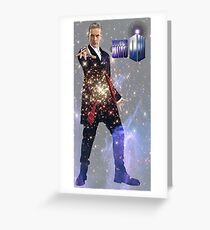 Galactic Peter Capaldi Greeting Card