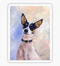Daisy - Portrait of a Ratonero Bodeguero Andaluz Sticker