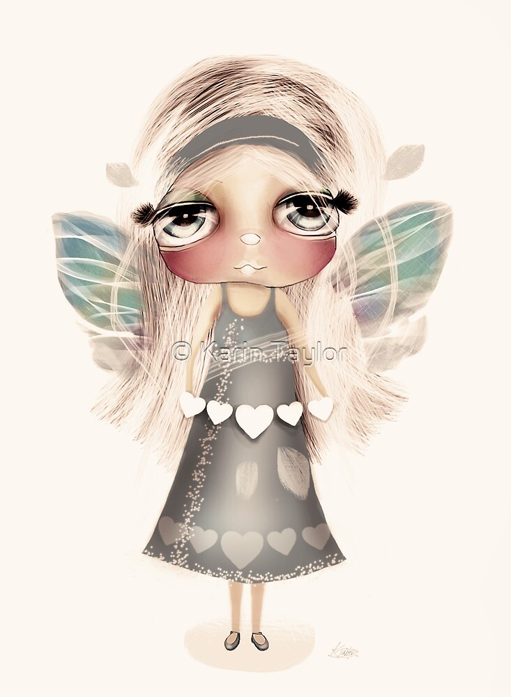 vintage hearts and wings by © Karin Taylor