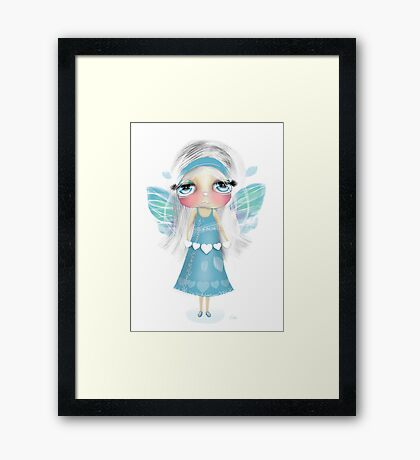 paper hearts and pretty wings Framed Print
