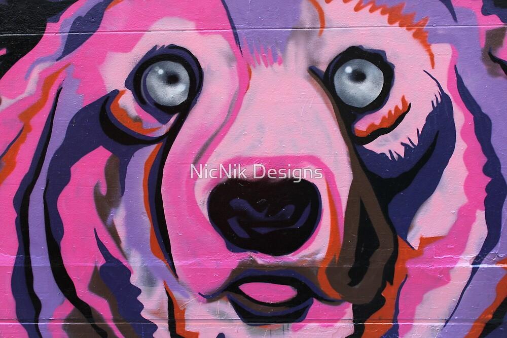 Melbourne Graffiti Street Art Pink Bear by NicNik Designs