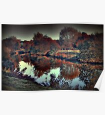 An Autumn afternoon at Teston  Poster