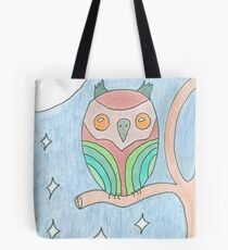 Colourful Owl Original Drawing Tote Bag