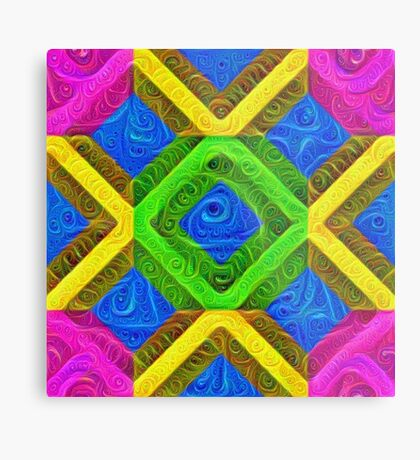 #DeepDream Color Squares Visual Areas 5x5K v1448364075 Metal Print