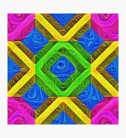 #DeepDream Color Squares Visual Areas 5x5K v1448364075 Photographic Print