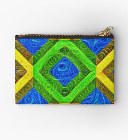 #DeepDream Color Squares Visual Areas 5x5K v1448364075 Zipper Pouch